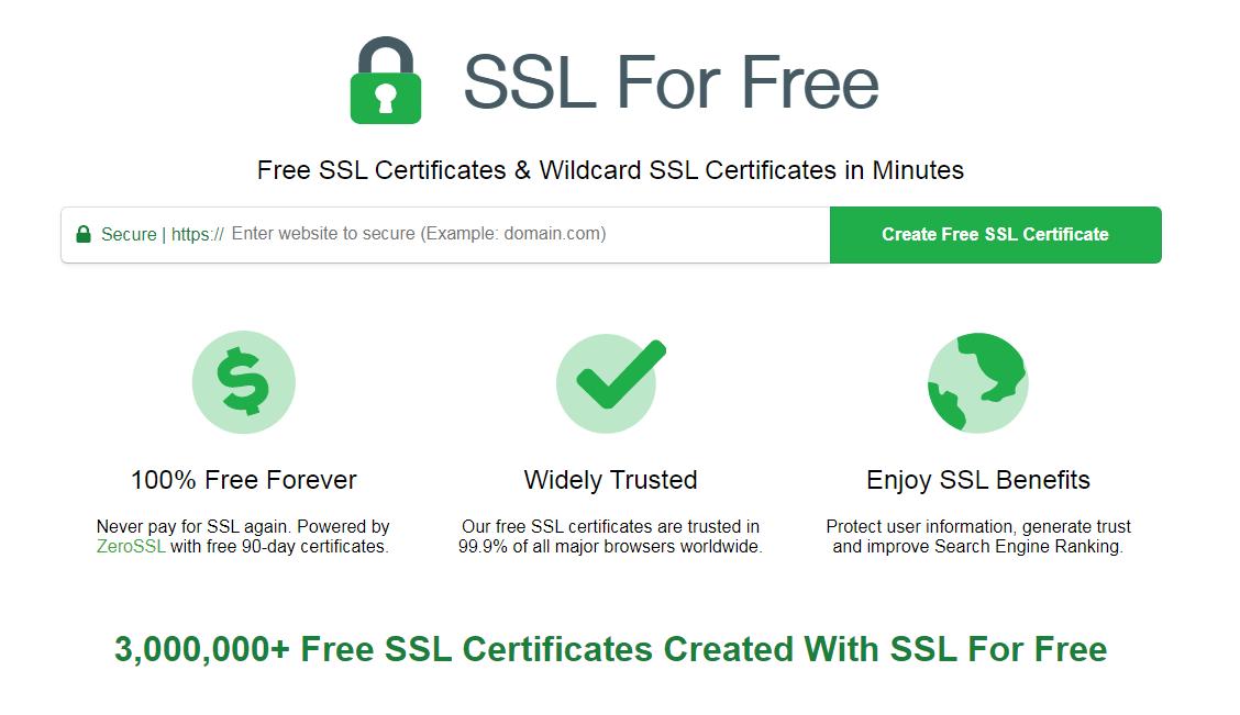 Сайт sslforfree.com