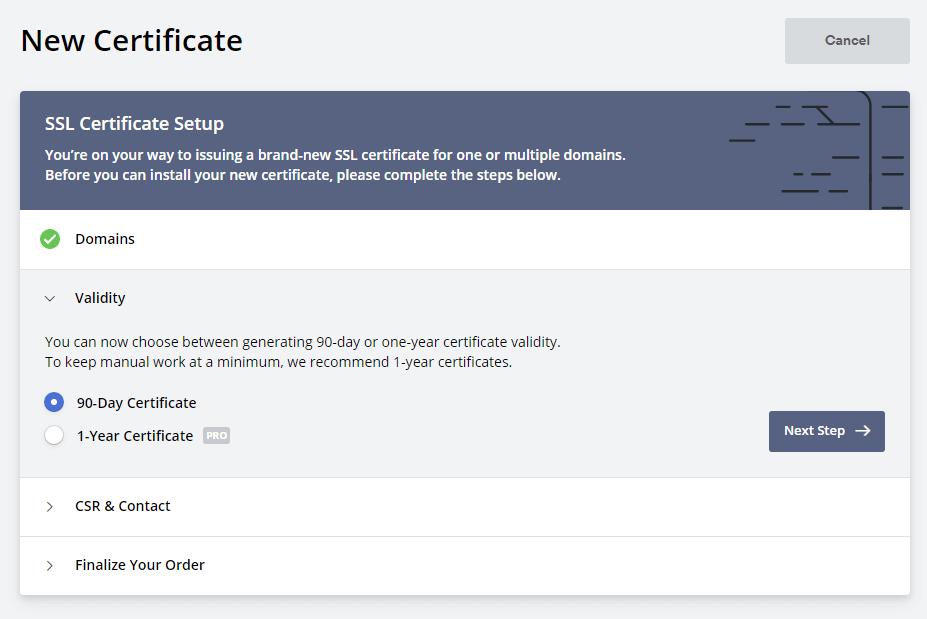 90-дневный сертификат