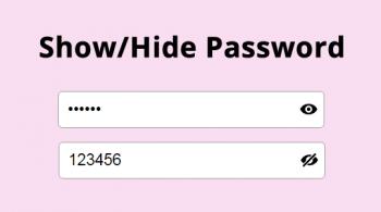 Показать/скрыть пароль