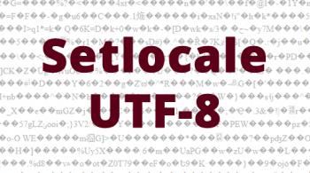 Установка локали UTF-8 в PHP