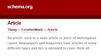 Schema.org – пример разметки статьи