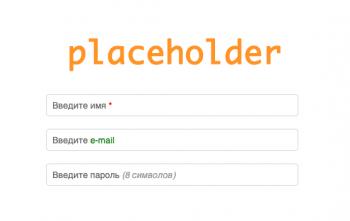 Оформление placeholder разными стилями