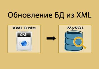 Обновление таблицы БД из XML файлов
