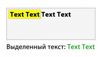 Получить выделенный текст из текстового поля