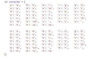 Перевод текста в транслит на JavaScript