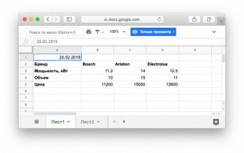 Чтение Google таблиц в PHP