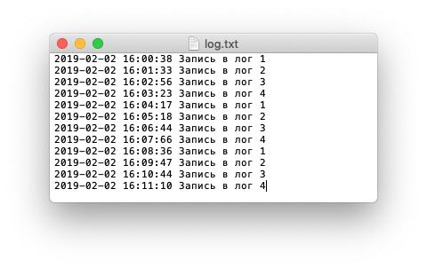 Запись в лог-файл в PHP