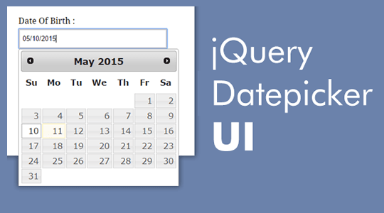 Календарь jQuery UI Datepicker