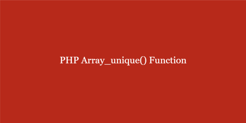 array_unique для многомерных массивов