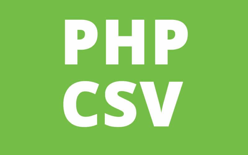 PHP массив в файл CSV
