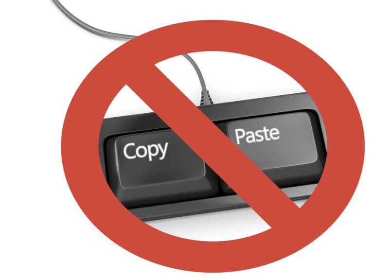 Защита текстов от копирования